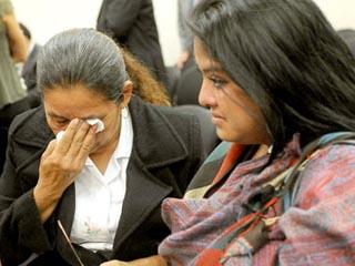 Tita Radilla llora por su padre durante la vista contra México en el Tribunal Interamericanao de Derechos Humanos en julio pasado.