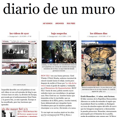 El Muro de Berlín, Diario de un Corresponsal.